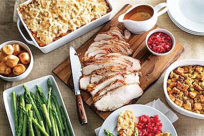 Promotional photo of Thanksgiving Meal from Fogo de Chao....
