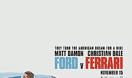 Promotional film poster for the movie Ford v Ferrari. Cou...