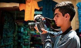 Photograph of student photographer participating in the F...