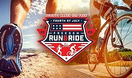 Promotional graphic of the Freedom Run & Ride. Courtesy o...