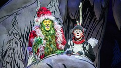 Edward Watts as The Grinch and Tommy Martinez as Young Max.
