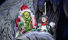 Edward Watts as The Grinch and Tommy Martinez as Young Ma...