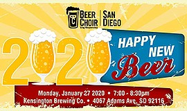 Promo graphic for San Diego Beer Choir