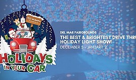 Promotional graphic for Holidays in Your Car. Courtesy of...