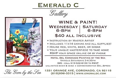 """Promotional graphic for """"Wine & Paint Workshops"""". Courtes..."""