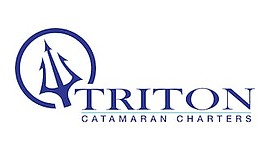 Promo graphic for Triton Charters' Ticketed Catamaran Y...