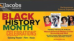 Promotional graphic for African-American Women in Film. Courtesy of Jacobs Pr...
