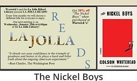 Promo graphic for La Jolla Reads: 'The Nickel Boys'