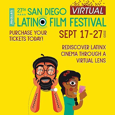 Promotional graphic of the San Diego Latino Film Festival...