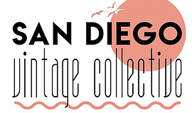 Promotional graphic of San Diego Vintage Collective's log...