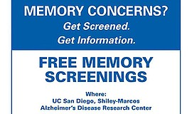 Promo graphic for Free Memory Screening - La Jolla