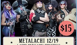 Promotional photo of Metalachi. Courtesy of Belly Up.