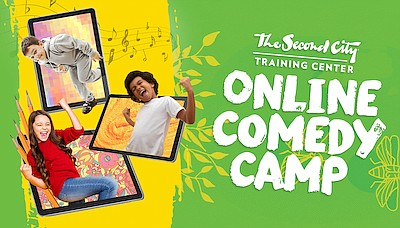 Promotional graphic of Online Comedy Camps. Courtesy of T...