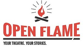 Promo graphic for 'Open Flame' - COVID Slam