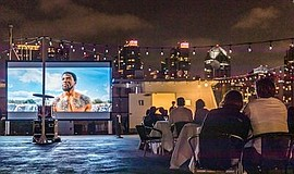 Promo graphic for Floating Outdoor Cinema Experience