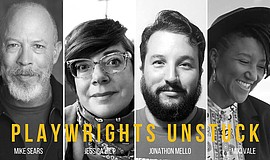 Promo graphic for Playwrights Unstuck at The Old Globe