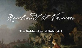 Promotional graphic for Rembrandt & Vermeer courtesy of t...