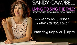 Promo graphic for Sandy Campbell In 'Living To Sing The...