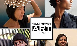 Promo graphic for San Diego Art Prize Exhibition