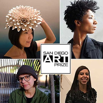 Promotional graphic for the San Diego Art Prize courtesy ...