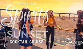 Promotional graphic for Spirits at Sunset cocktail cruise...