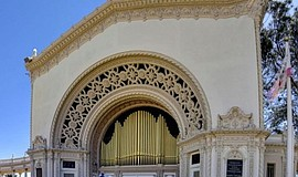 Promotional photo of Spreckels Organ Pavilion. Courtesy o...