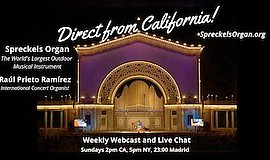 Promotional graphic for Spreckels Organ Weekly Concert. C...