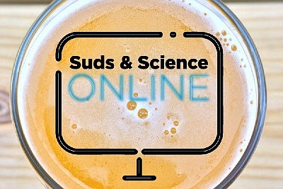 Promotional graphic for Suds & Science Online. Courtesy o...