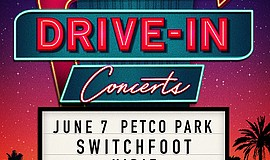 Promo graphic for Feed the Need Drive-In Concert: Switc...
