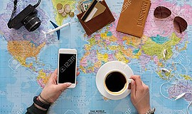 Promo graphic for Online Travel Planning