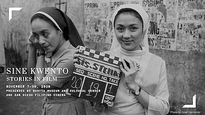 Promotional graphic for Sine Kwento: Filipino Film And St...