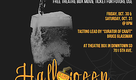Promo graphic for Halloween Brew & View: A Craft Beer F...