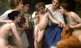 William-Adolphe Bouguereau, Admiration, 1897. Oil on canv...