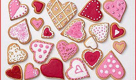 Promotional photo of heart-shaped cookies. Courtesy of Mi...