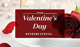Promotional graphic for Valentine's Day Weekend Special. ...