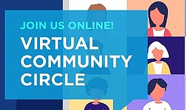 Promotional graphic for Virtual Community Circle. Courtes...