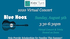Promotional graphic for 2020 Kids' Turn San Diego Virtual Concert, courtesy o...
