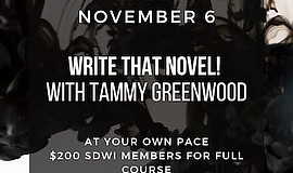 Promo graphic for Write That Novel With Tammy Greenwood