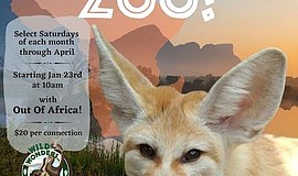 Promo graphic for Saturday Morning At The Zoo: Out Of A...