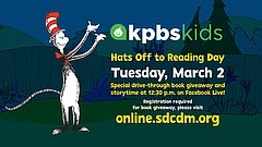 Promotional graphic for KPBS Kids workshop with the San Diego Children's Disc...