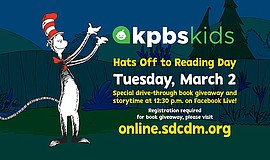 Promotional graphic for KPBS Kids workshop with the San D...