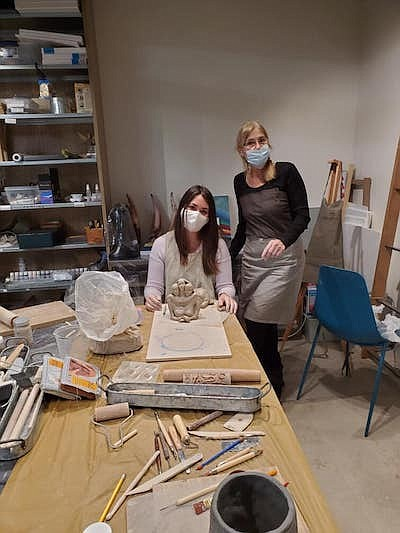 Promotional photo of Sculpting in clay class. Courtesy of...