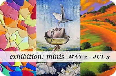 """Promotional graphic for """"Minis"""". Courtesy of Sparks Gallery."""