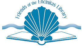 Promo graphic for Friends Of The Encinitas Library Book...