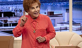 """Promotional photo of Tovah Feldshuh in """"Becoming Dr. Ruth..."""