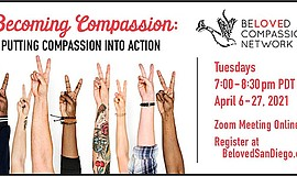 Promo graphic for Becoming Compassion: Putting Compassi...