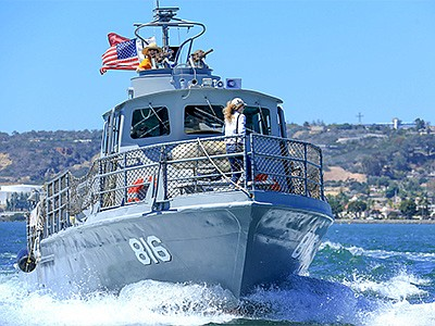 Promotional photo for the PCF 816 Swift Boat Naval Histor...
