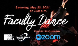 Promo graphic for Faculty Dance Concert 2021