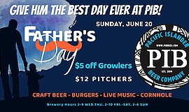 Promotional graphic for Father's Day at Pacific Islander ...