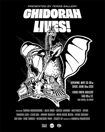 """Promotional poster for 'Ghidorah Lives"""" courtesy of Teros..."""